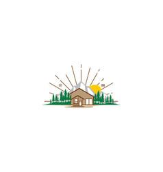 resort mountain logo icon vector image