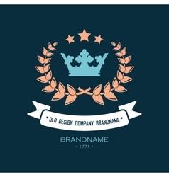 Retro design logo vector image