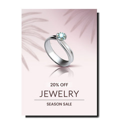 Ring jewelry accessory promotional banner vector