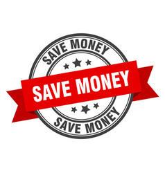 save money label save money red band sign save vector image