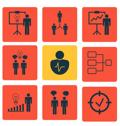 Set 9 administration icons includes personal vector