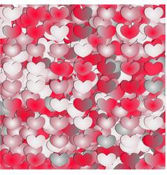 set of gradient hearts vector image
