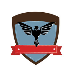 Shield with wings isolated icon vector