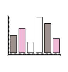 Silhouette color sections of statistical graphs vector