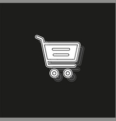 simple shopping cart icon vector image