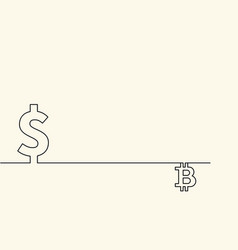 symbol of currency dollar and symbol of digital vector image vector image