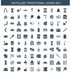 traditional icons vector image