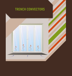 trench con under window vector image