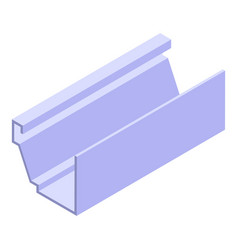 Trough gutter icon isometric style vector