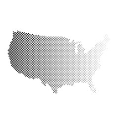 United states america dotted halftone map of vector