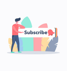 video blog subscribe concept vector image