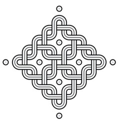 viking decoration knot - chained squares rounded vector image