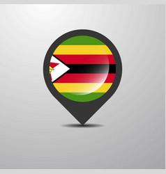 zimbabwe map pin vector image