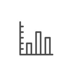 bar chart line icon vector image vector image