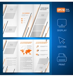 brochure design template leaflet geometric vector image
