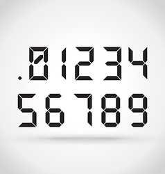 Digital numbers vector image vector image