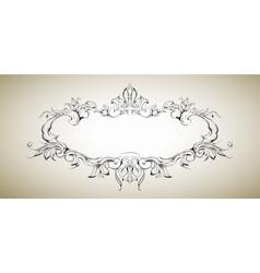 frame with floral elements for registration 5 vector image