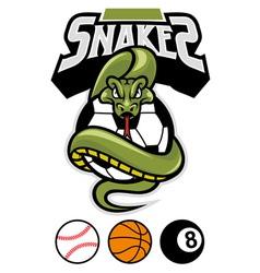 snake grip a sport ball vector image