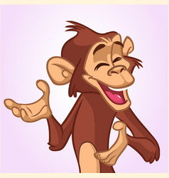 cartoon monkey smiling and laughing vector image vector image