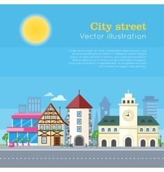 City Street Urban Landscape vector image vector image