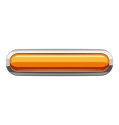 Gold rectangular button icon cartoon style vector image vector image