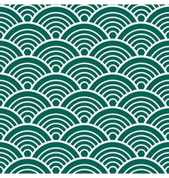 Green White Traditional Wave Japanese Chinese vector image vector image