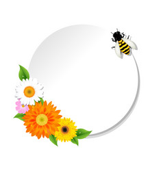 honey background and bee and banner vector image vector image