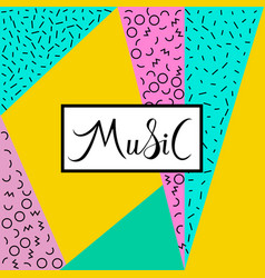 Music lettring text vector