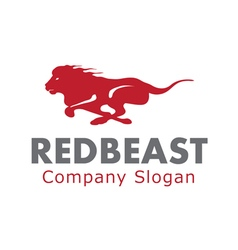 Red Beast Design vector image