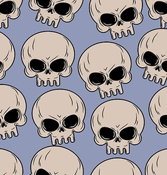 Skull seamless background Many skulls pattern vector image