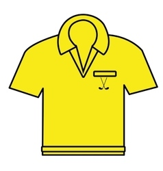 yellow polo shirt graphic vector image vector image