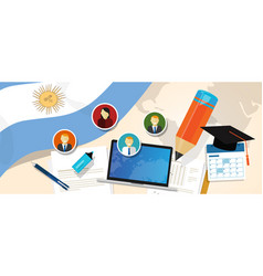argentina education school university concept with vector image