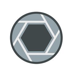 close objective icon flat style vector image