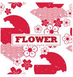 flower sakura pattern cloud and sun background vec vector image