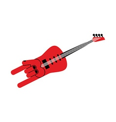 Guitar for rock musician Electric guitar in form vector image vector image