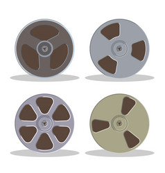 retro bobbin audio cassette isolated on a white vector image