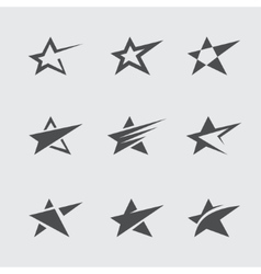 Star icon set vector image vector image