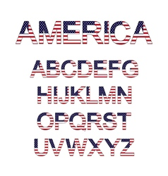 america font vector image