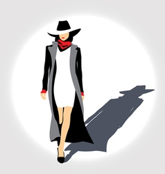 Business lady with hat vector image