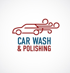 Car wash and polishing logo template vector image vector image