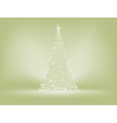 Elegant christmas tree card EPS 8 vector image vector image