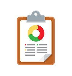 graph report icon vector image