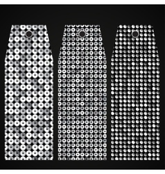 Price tag tag with shiny silver sequin Eps 10 vector image