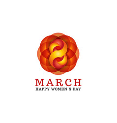 8 march happy women is day female greeting card vector image