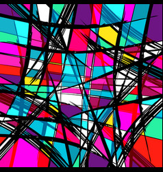 abstract colored graffiti background vector image