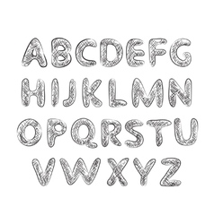 alphabet with texture vector image
