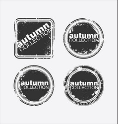 autumn collection grungy stamp vector image