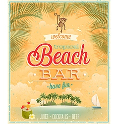 beach bar2 vector image
