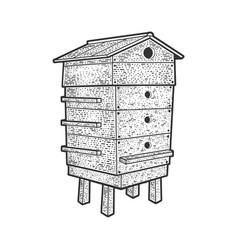 beehive sketch vector image