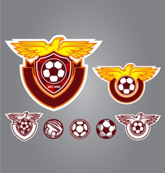 bird emblem logo football vector image
